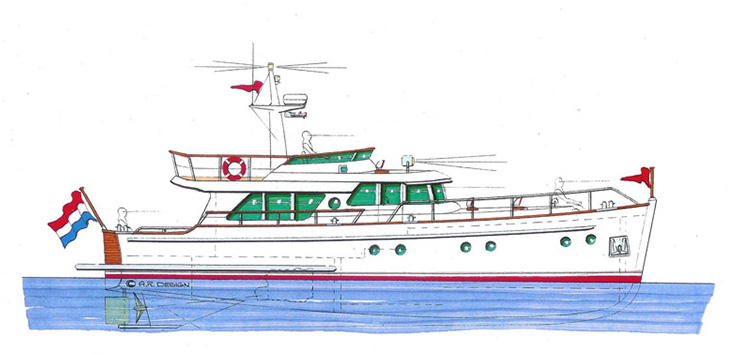 Gently 50' Trawler